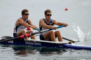 BEIJING - AUGUST 16: Cameron and Tyler Winklevoss of the United States compete in the men's pair final in the rowing event at the Shunyi Olympic Rowing-Canoeing Park on Day 8 of the Beijing 2008 Olympic Games on August 16, 2008 in Beijing, China. (Photo by Harry How/Getty Images)